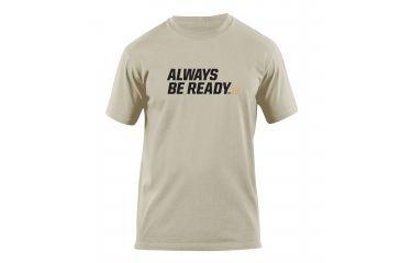 5.11 Tactical Always Be Ready Logo T Shirt - Tan - M 41006AZ-170-M
