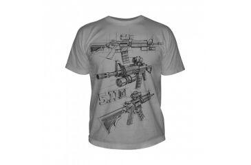 5.11 Tactical Logo T Shirt Sleeve Ar Sketch, Cinder, L 41006CD-089-L