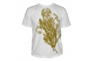 5.11 Tactical Logo T Shirt Sleeve Hidden Hunter, White, M 41006CB-010-M