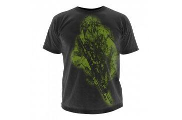5.11 Tactical Logo T Shirt Sleeve Hidden Hunter, Black, XXL 41006CB-019-XXL