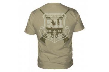 5.11 Tactical Logo T Shirt Sleeve Victor, Tan, L 41006CJ-170-L
