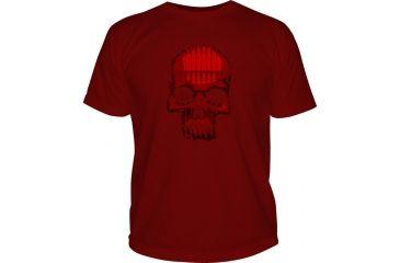 5.11 Tactical Logo TShirT Shirt Sleeve Bullet Skull, Cardinal, L 41006BL-470-L