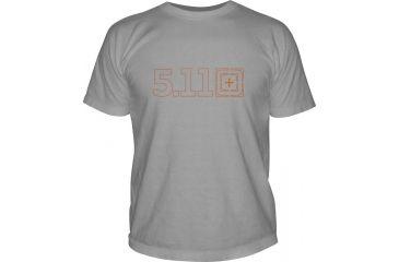 5.11 Tactical Logo TShirT Shirt Sleeve Target Zero, Cinder, XL 41006BQ-089-XL
