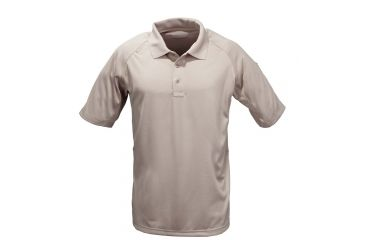 5.11 Tactical Men's Performance Polo Shirt, Short Sleeve, Polyester Synthetic Knit, Silver Tan, 4XL 71049T-160-4XL