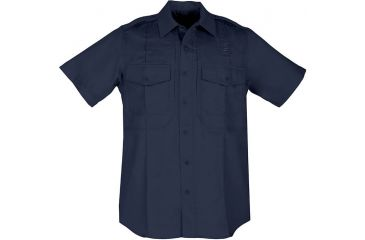 5.11 Tactical Mens Taclite PDU Short Sleeve Class B Shirt 71168 Navy