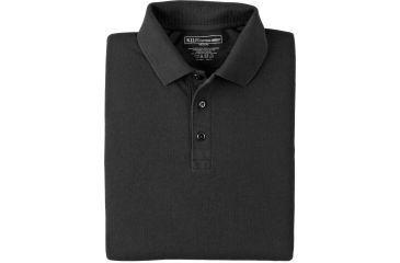 5.11 Tactical Short Sleeve Utility Polo Shirt - Black, Size  L 41180-019-L