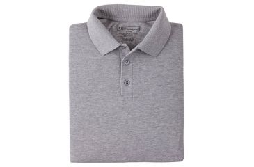 5.11 Tactical Short Sleeve Utility Polo Shirt - Heather Grey, Size  L 41180-016-L