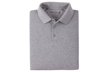 5.11 Tactical Short Sleeve Utility Polo Shirt - Heather Grey, Size  L 41180T-016-L