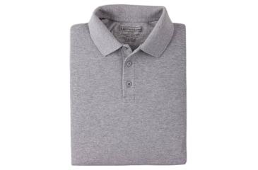 5.11 Tactical Short Sleeve Utility Polo Shirt - Heather Grey, Size  XS 41180-016-XS