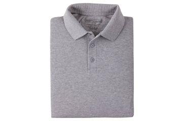 5.11 Tactical Short Sleeve Utility Polo Shirt - Heather Grey, Size  XXL 41180-016-XXL