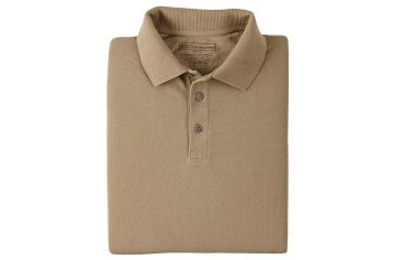 5.11 Tactical Short Sleeve Utility Polo Shirt - Silver Tan, Size  L 41180T-160-L