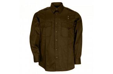 5.11 Tactical Taclite PDU Long Sleeve A-Cl Shirt, Brown, S 72365-108-S-S