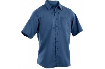 5.11 Tactical Traverse Short Sleeve Shirt, Cobalt Blue, L 71333-701-L