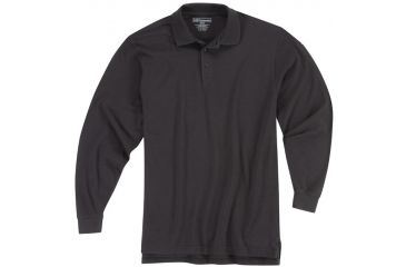 5.11 Tactical Utility Long Sleeve Polo Shirt - Black - XS 72057-019-XS