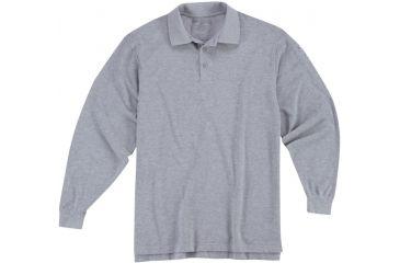5.11 Tactical Utility Long Sleeve Polo Shirt - Heather Grey - XS 72057-016-XS