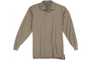 5.11 Tactical Utility Long Sleeve Polo Shirt - Silver Tan - XS 72057-160-XS
