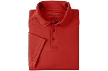 b5b1c1d304146 5.11 Tactical Womens Performance Short Sleeve Polo Shirt - Range Red