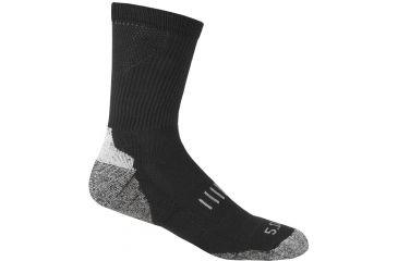 5.11 Tactical Year Round Crew Sock - Black, Size  L/XL 10014-019-L/XL