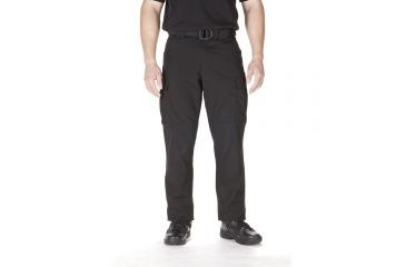 5.11 Tactical TDU Adjustable Ripstop Men's Pants, Black, Extra Small - 23.5-27in Waist, Short 29.5in Inseam