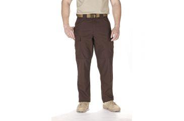 5.11 Tactical TDU Adjustable Ripstop Men's Pants, Brown, Extra Small - 23.5-27in Waist, Short 29.5in Inseam