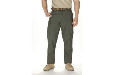 5.11 Tactical TDU Adjustable Ripstop Men's Pants, TDU Green, Medium - 31.5-35in Waist, Long 35.5in Inseam