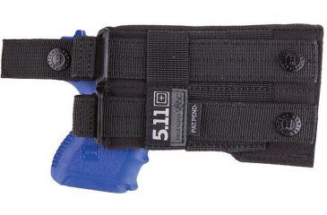 5.11 Tactical LBE Compact Holster L/H, Black, 58829-019-BLACK-1 SZ