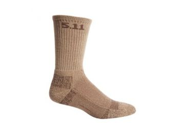 5.11 Level I 6inch Sock - Regular Thickness, Coyote Brown