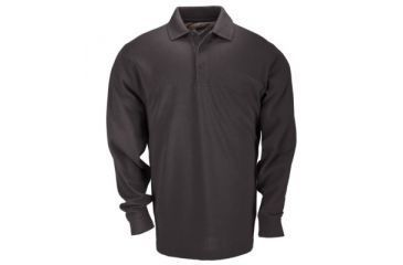 5.11 Professional Polo, Long Sleeve, TALL, Black