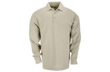 5.11 Professional Polo, Long Sleeve, TALL, Silver Tan