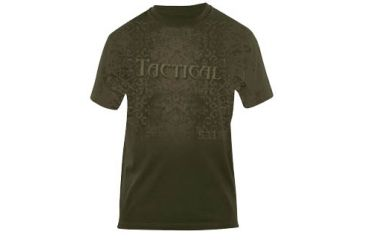 5.11 Tactical OD Green Logo T-Shirt - Front view