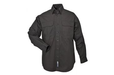 5.11 Tactical Pro Shirt Long Sleeve, Cotton 72157, Black, Size XS BLACK-XS