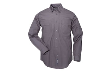 5.11 Tactical Pro Shirt Long Sleeve, Cotton 72157, Charcoal, Size XS CHARCOAL-XS