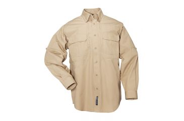 5.11 Tactical Pro Shirt Long Sleeve, Cotton 72157, Brown, Size XS BROWN-XS