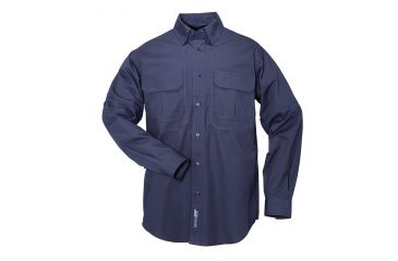 5.11 Tactical Pro Shirt Long Sleeve, Cotton 72157, Fire Navy, Size XS FIRE-NAVY-XS