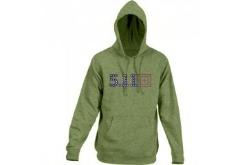 5.11 Tactical Men's Independence Hoodie w/ Anti Fade Graphics, Fatigue, L 42182AE-200-L