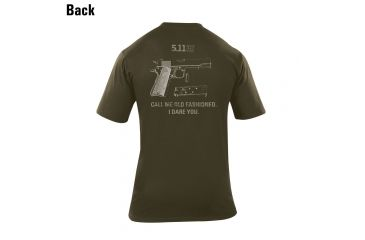 5.11 Tactical Old Fashioned Graphic T Shirt, Od Green