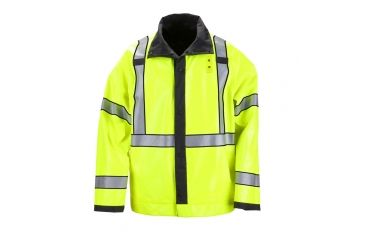 5.11 Tactical Long Reversible High Vis Rain Coat ANSI Class 3, Black