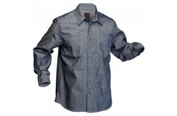 5.11 Tactical Chambray Long Sleeve Shirt - Indigo - S 72403-718-S