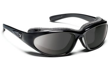7 Eye Churada Glossy Black SharpView Gray Sunglasses 160541