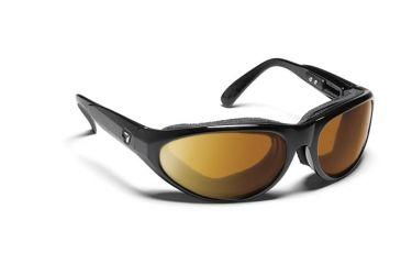7 Eye Diablo Panoptx Cyclone Foam Sunglasses, Glossy Black Frame, Re-ACT NXT Copper Lens 170521