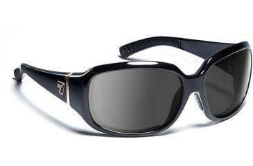 7 Eye Mistral- Glossy Black Sunglasses, S-M 580542