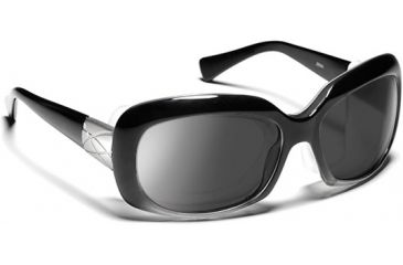 7 Eye Oasis- Glossy Black Sunglasses, S-L 010540