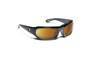 7 Eye Whirlwind Sunglasses, Glossy Black Frame, 24 - 7 NXT Contrast Lens 120527