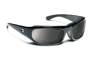 7 Eye Whirlwind Sunglasses, Glossy Black Frame, SharpView Gray Lens 120541