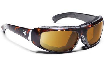 7 Eye 7eye Air Shield Sunglasses Bali, Sharp View Gray Polarized PC Lens, Dark Tortoise Frame, M , Men 180653