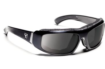 7 Eye 7eye Air Shield Sunglasses Bali, Sharp View Clear PC Lens, Glossy Black Frame, M , Men 180540
