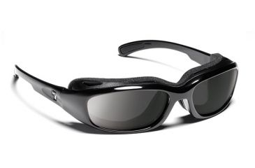 7 Eye 7eye Air Shield Sunglasses Churada, Sharp View Polarized Gray PC Lens, Glossy Black Frame, M-L , Men 160553