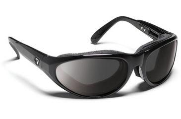 7 Eye 7eye Air Shield Sunglasses Diablo, Sharp View Clear PC Lens, Glossy Black Frame, L-XL , Men 170540