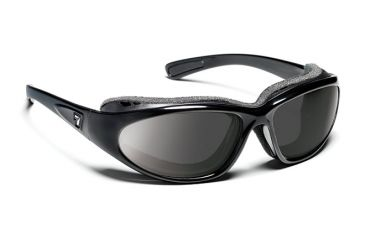7eye 140541 Bora Rx Progressive Sunglasses Airshield Glossy Black Frames