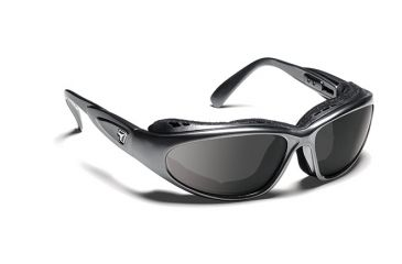 7eye 190341 Cape Single Vision Sunglasses Airshield Charcoal Frames
